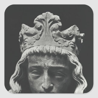Clovis II , Merovingian Frankish Square Sticker