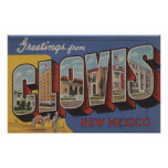 Clovis, New Mexico - Large Letter Scenes Print