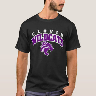 Clovis Wildcats Arched Lettering T-Shirt
