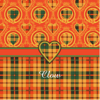 Clow clan Plaid Scottish kilt tartan Cutout