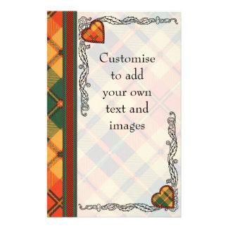 Clow clan Plaid Scottish kilt tartan Flyer