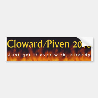 Cloward y Piven 2016 Pegatina Para Auto