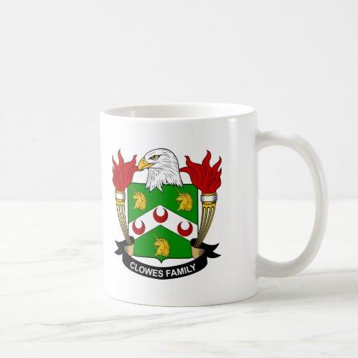 Clowes Family Crest Coffee Mugs