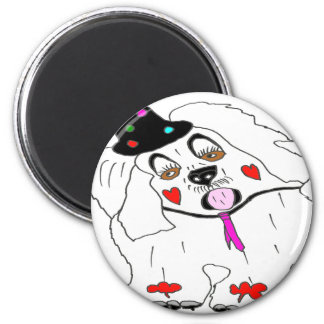 CLOWN1.png DOG 2 Inch Round Magnet