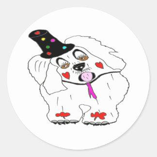 CLOWN1.png DOG Classic Round Sticker