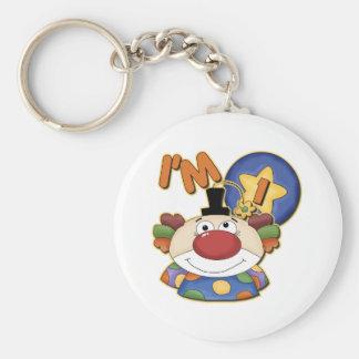 Clown 1st Birthday Basic Round Button Keychain