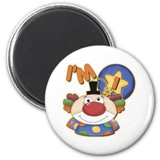 Clown 1st Birthday Magnet