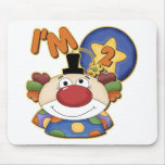 Clown 2nd Birthday Greeting Card Mouse Pad