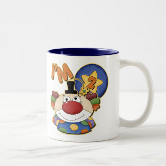 Clown 2nd Birthday Greeting Card Two-Tone Coffee Mug