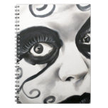 Clown #4 spiral note book