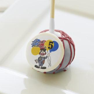 Clown 5th Birthday Cake Pops