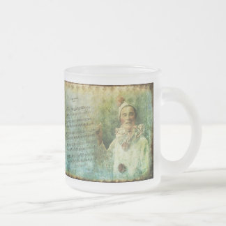 Clown Actor and Song Sheet Frosted Glass Coffee Mug
