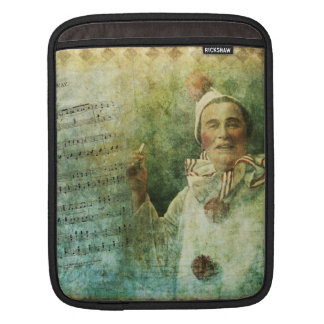 Clown Actor and Song Sheet iPad Sleeve
