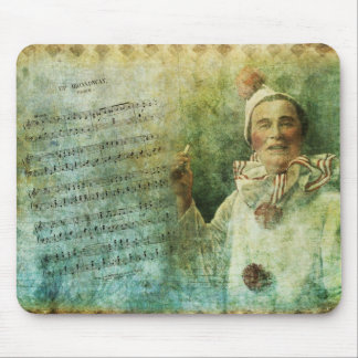 Clown Actor and Song Sheet Mouse Pad
