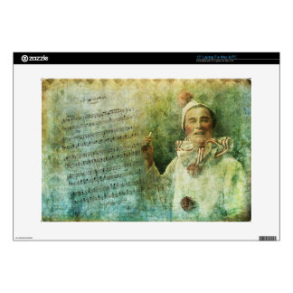 """Clown Actor and Song Sheet 15"""" Laptop Skins"""