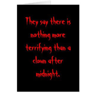 Clown After Midnight Greeting Card