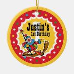 Clown Around 1st Birthday Ornament