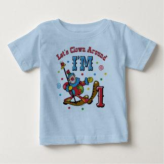 Clown Around 1st Birthday T Shirt