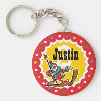 Clown Around 2nd Birthday Custom Keychain