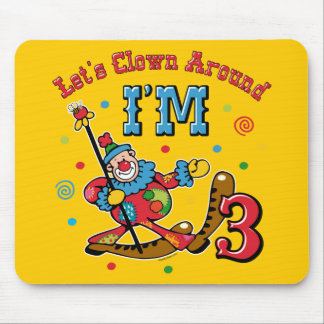Clown Around 3rd Birthday Mouse Pads