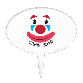 Clown Around Cake Toppers