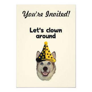 Clown Around Dog Card