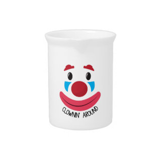 Clown Around Beverage Pitchers
