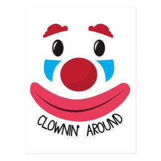 Clown Around Postcard