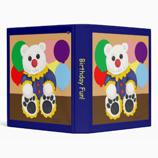 Clown Bear Birthday Scrapbook Binder