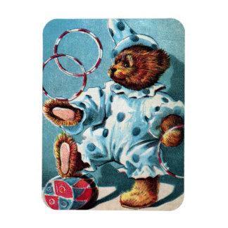 Clown Bear Charley - Letter C - Vintage Teddy Bear Magnet