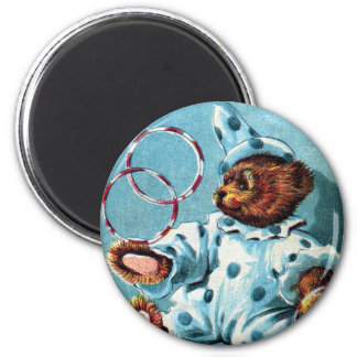 Clown Bear Charley - Letter C - Vintage Teddy Bear Magnet