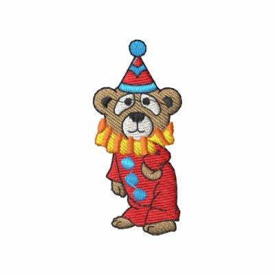Clown Bear Embroidered Hoodie