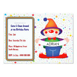 Clown Birthday Invitation