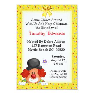 Clown Birthday Party Invitation