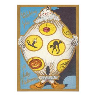 Clown Black Cat Smiling Jack O Lantern Apple Skull Card