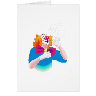 clown blowing bubbles card