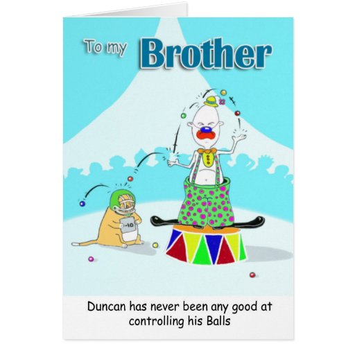 Clown brother fathers day greeting card zazzle