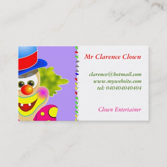 Clown business card zazzle clown business card colourmoves
