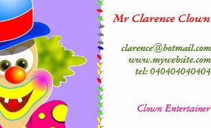 Clown business cards templates zazzle clown business card colourmoves