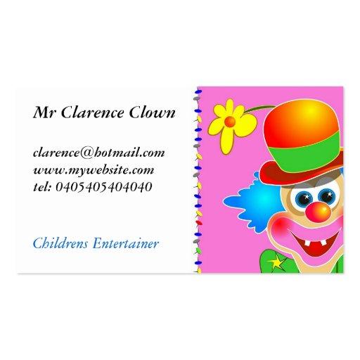 Clowns business card templates bizcardstudio clown business card templates colourmoves