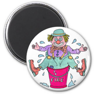 Clown Capers Fridge Magnet