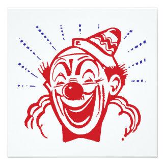 """Clown Card 5.25"""" Square Invitation Card"""