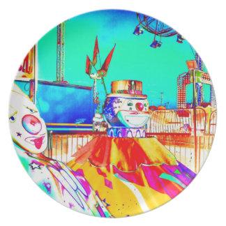 Clown Carnival Fair Ride Art Photo Wall Decor Gift Dinner Plates