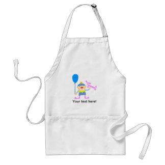 Clown cartoon adult apron