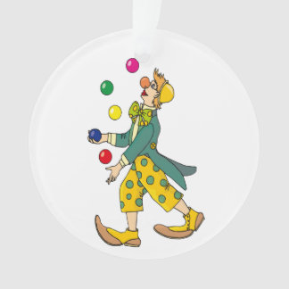 Clown cartoon ornament