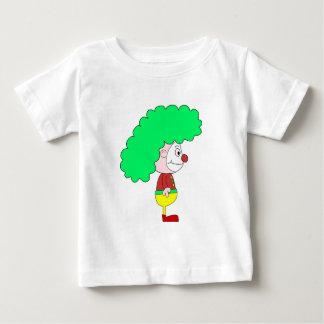Clown Cartoon. Yellow, red and green. Baby T-Shirt