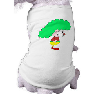Clown Cartoon. Yellow, red and green. Pet Tee