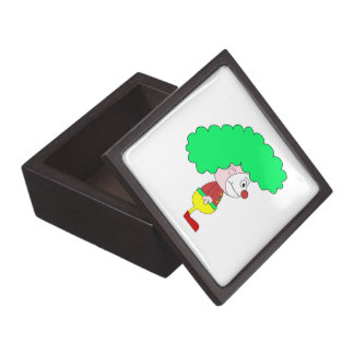 Clown Cartoon Yellow red and green Premium Jewelry Boxes