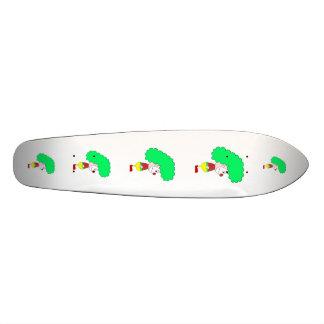 Clown Cartoon. Yellow, red and green. Skate Board Decks