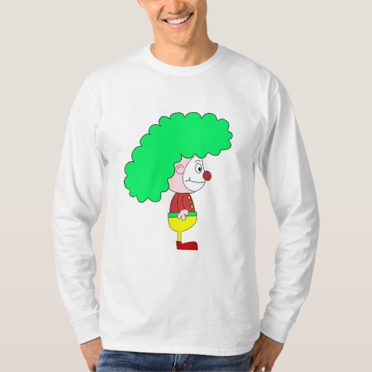 Clown Cartoon. Yellow, red and green. T-Shirt